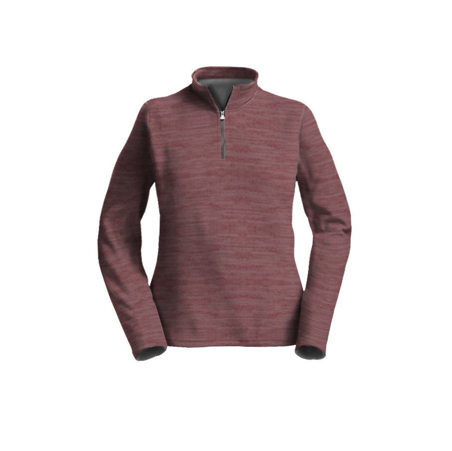 Female 3/4 Mock Zip Running Top | Rose