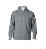 Male 3/4 Mock Zip Running Top | Grey
