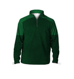 Male 3/4 Mock Zip Running Top | Green