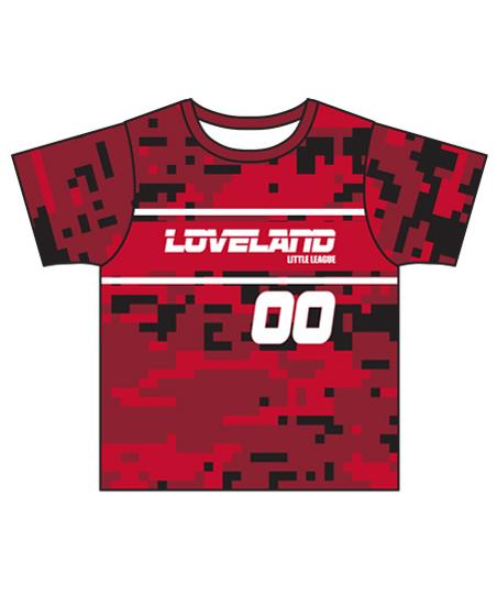 Loveland 2019 CRIMSON 202 - Youth Tech Tee Jersey