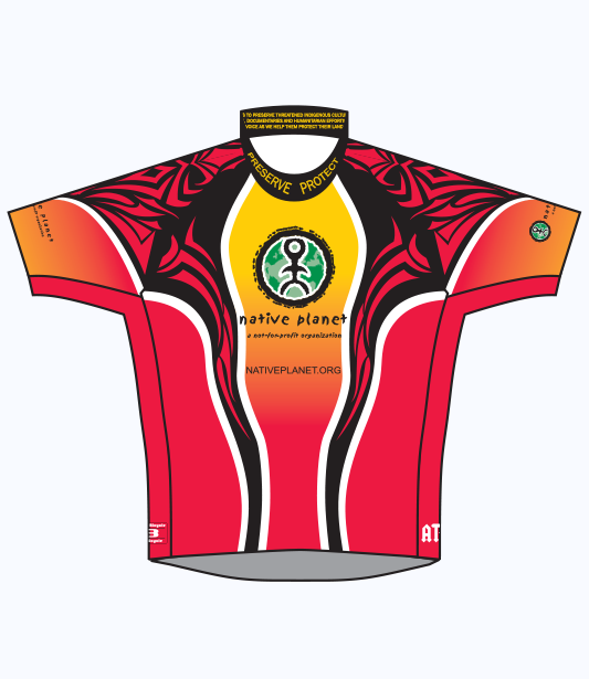 Native Planet Cycling Jersey - Short Slv - Black & Red Tribal