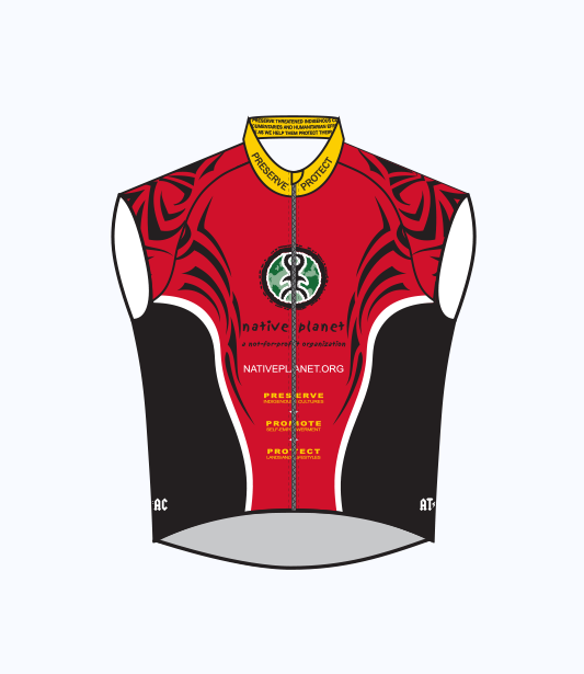 Native Planet Cycling Vest - Black & Red Tribal