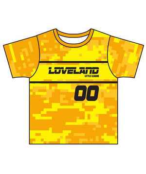 Load image into Gallery viewer, Loveland 2019 YELLOW GOLD 130 - Youth Tech Tee Jersey