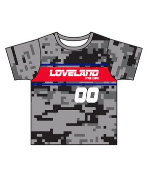 Load image into Gallery viewer, Loveland 2019 GREY CG7 - Youth Tech Tee Jersey