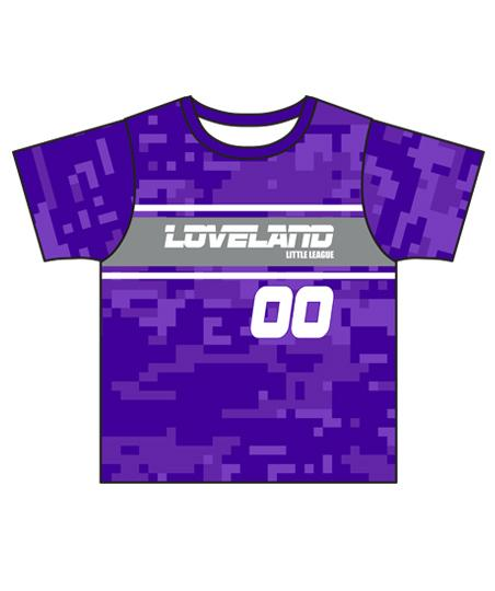 Loveland 2019 PURPLE VIOLET - Youth Tech Tee Jersey