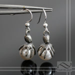 Black Pearl Octopus Earrings - Sterling Silver