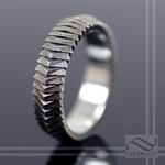 Segmented Scale Armor Ring - 14k or Sterling Silver
