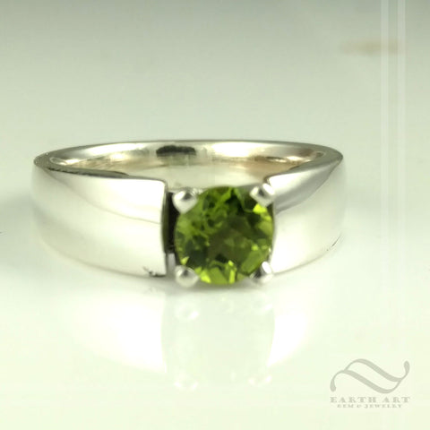 Once Upon A Time Ring - Peridot and Sterling