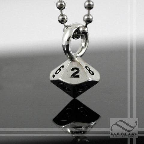 D10 Double Damage Pendant - Sterling Silver