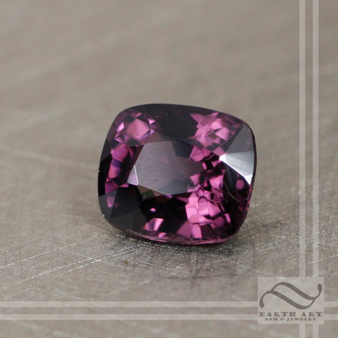 1.5 carat Loose Natural Spinel - Dark Fuchsia rectangular cushion cut