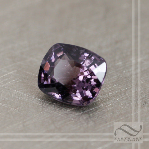 1.66 carat Loose Natural Spinel - Dark lavender rectangular cushion cut