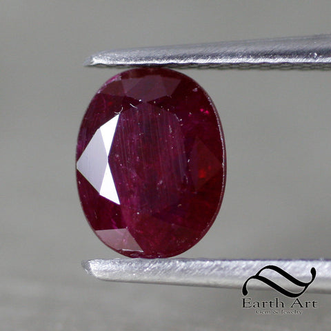 1.55 ct Natural Ruby - Loose red Oval 8x6