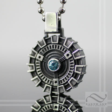Arc Reactor Pendant - Double sided - Sterling Silver