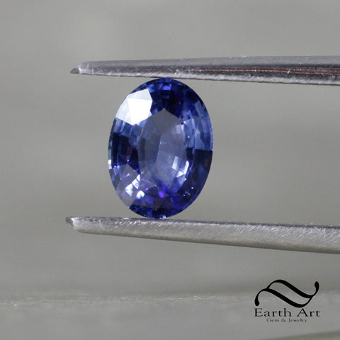 1.25 ct Natural Sapphire - Loose Ceylon blue Oval