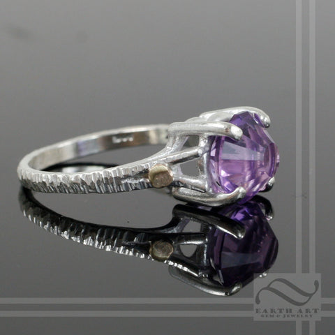 Fantasy Cut Amethyst Statement ring - Sterling Silver