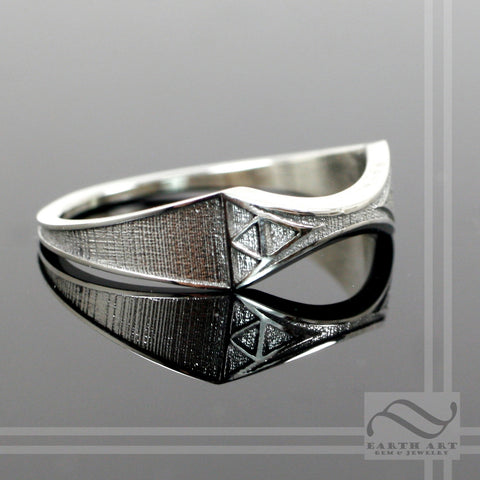 Zelda Wedding Band -Sterling Silver Ladies Thinner geeky wedding band