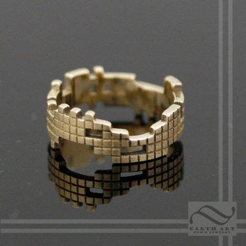 Tetris Ring - 14k gold - A retro gamer band
