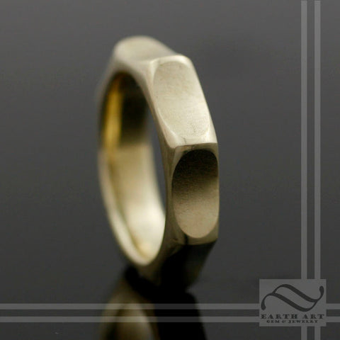 The Golden Starburst - 14k Wedding Band