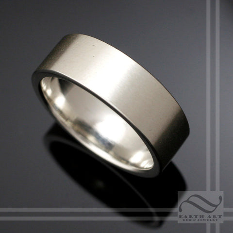 8mm Modern Satin Finish Band - Sterling Silver