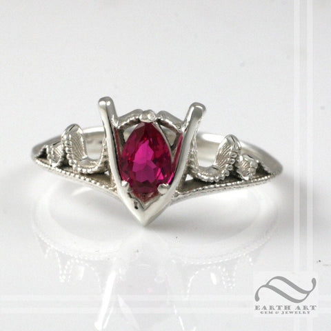 Goron's Ruby Ring - Legend of Zelda - Sterling Silver