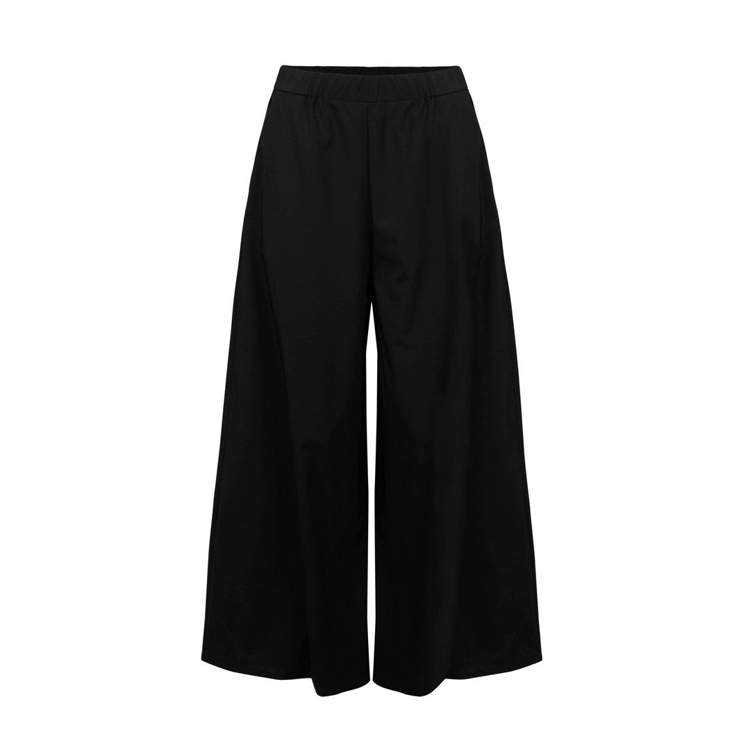 10205 Ever Sassy Loewe Interlock Crop Knit Palazzo Pant