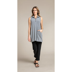 21172 Sleeveless Double Take Tunic Top - Bib and Tucker Clothing