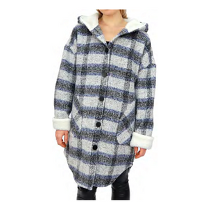 RD Style Abbe Brushed Plaid Sherpa Jacket 73JC062S