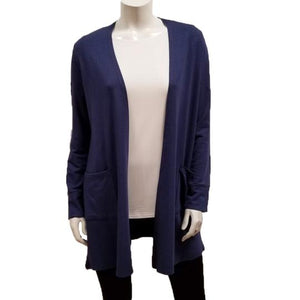 Bamboo French Terry Mid-Length Cardi