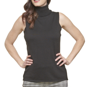 74805  Nina Sleeveless T-Neck Sweater