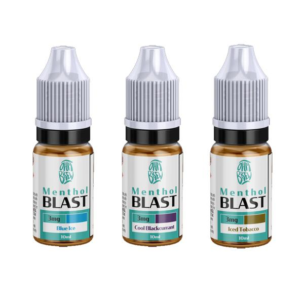 6mg Ohm Brew Menthol Blast 10ml Nic Salt (50VG/50PG)