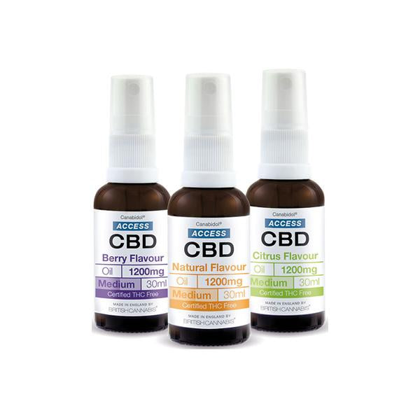Access CBD 1200mg CBD Broad Spectrum Oil 30ml