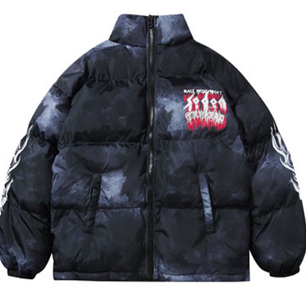 Red Snow Puffer Jacket
