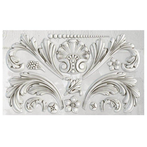 "'Acanthus Scroll' IOD Decor Mould (6""x10"")"