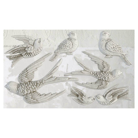 "'Birdsong' IOD Decor Mould (6""x10"")"