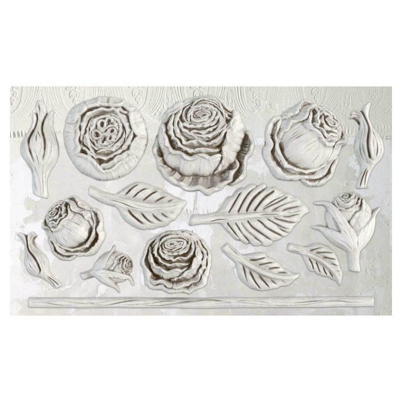 "'Heirloom Roses' IOD Decor Mould (6""x10"")"