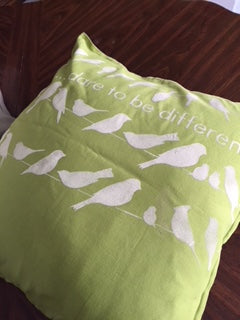 Painted Pillow Covers - for home decor