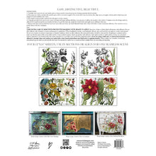 Load image into Gallery viewer, Midnight Garden IOD Transfer (12″X16″ PAD-4 SHEETS)