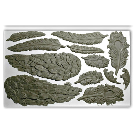 "Wings & Feathers IOD Decor Mould (6""x10"")"