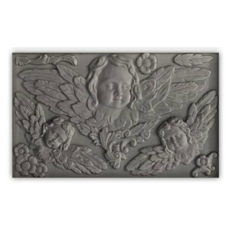 "Cherubs' IOD Decor Mould (6""x10"")"