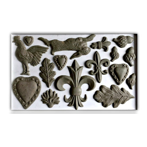 "Fleur de lis IOD Decor Mould (6""x10"")"