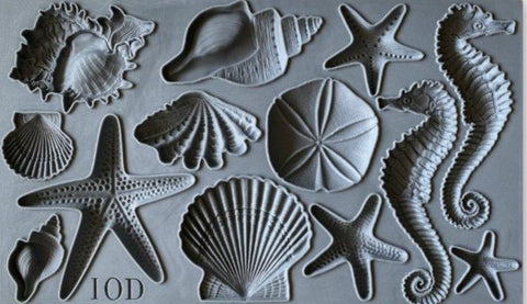 "Sea Shells IOD Decor Mould (6""x10"")"