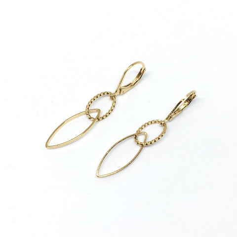Elongated chain earrings