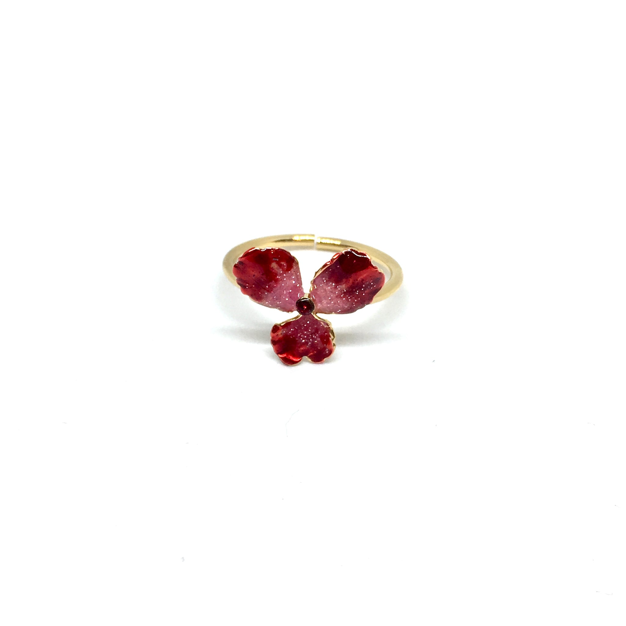 Small red violet ring