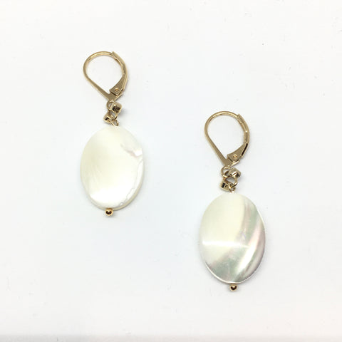 Mother-of-pearl pastille earrings