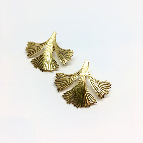 Ginkgo stud earrings