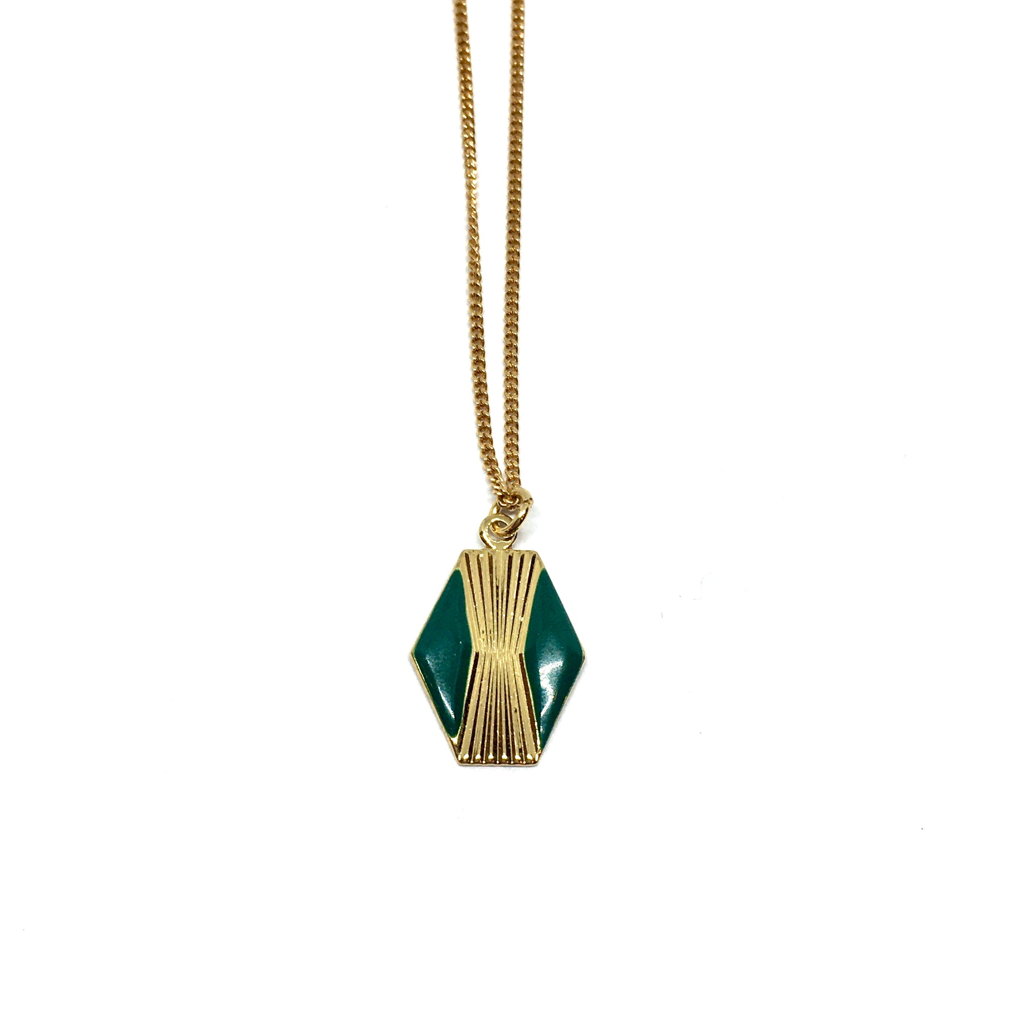 Art Deco Hexagon Pendant