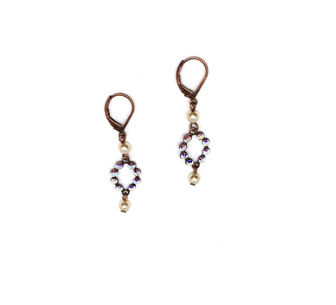 Short dew pearl earrings