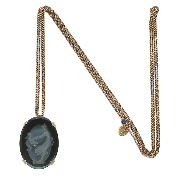 "Large ""intaglio"" long necklace"
