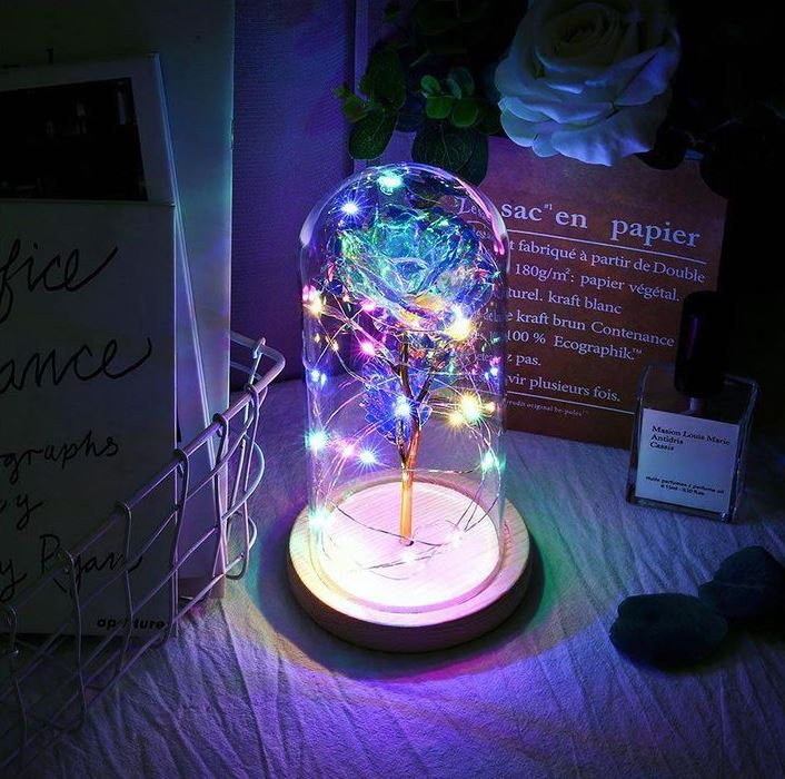 bright night lamp led rose beauty and the beast decorational nightstand lamp love inspiration gift christmas wedding anniversary family mother's day