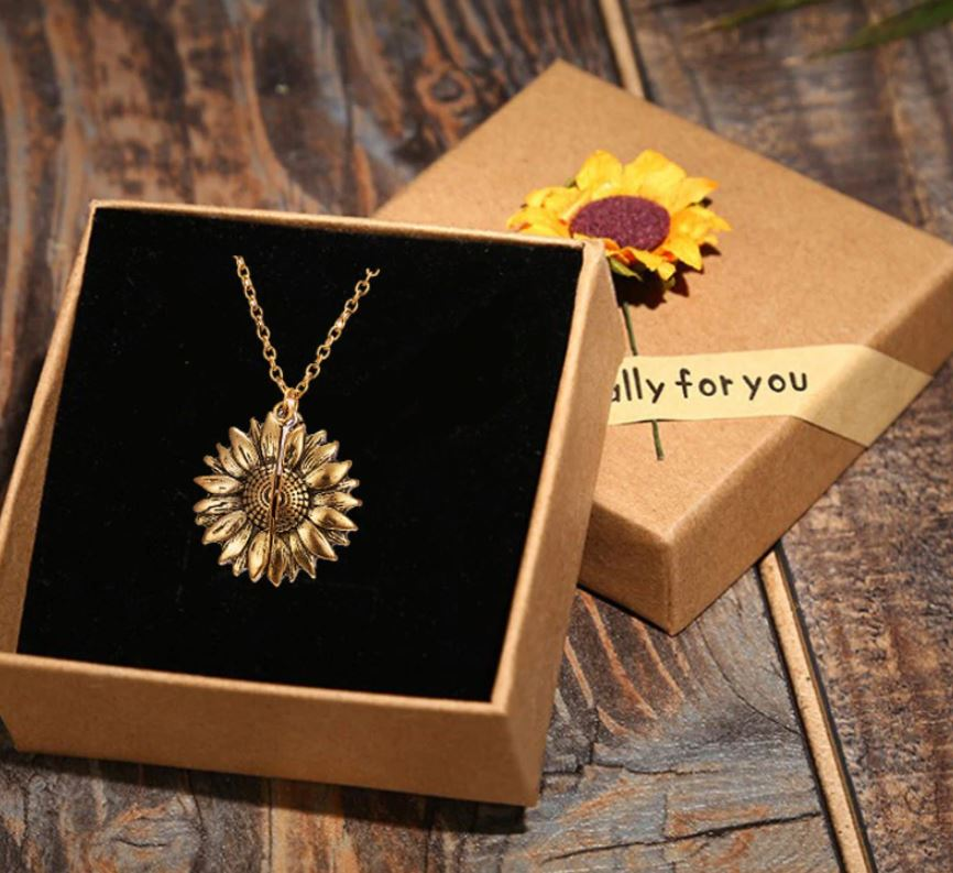 Perfect Gift with Sunflower Pendant Love